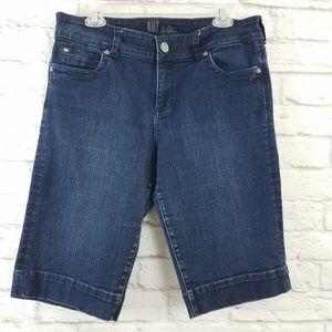 KUT from the Kloth Denim Bermuda Shorts Blue 14